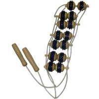 Массажер для спины с резиной с семью рядами роликов
