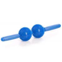 Массажные тренажеры для тела Мячи игольчатые с ручкой (2 больших мяча) Trives М-402