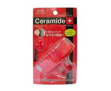 массажер головы vess ceramide plus shampoo brush