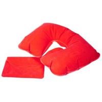 Надувная подушка под шею для путешествий, в чехле, 5 цветов