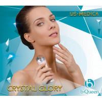 US MEDICA Гальванический массажер Crystal Glory (Розовый)