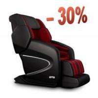 OTO Массажное кресло Chiro II Черно-Красный
