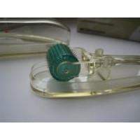 Дермароллер-Мезороллер массажный с титановыми позолоченными микроиглами 1,5 мм / Модель МТ15+