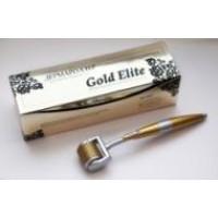 Дермароллер Мезороллер Gold Elite титановые позолоченные микроиглы 0,75мм лазерная заточка / GoldMT7,5+