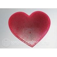 Коврик массажный ДЕЛЬТА-ТЕРМ Delta-Term Сердце, точечный массаж, профилактический, резина, удобный, Арт. 1301