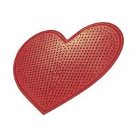 Коврик массажный Сердце, артикул 1301, 380*420 мм